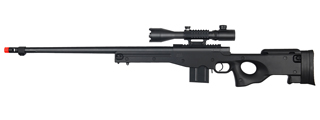 WellFire MK96 Bolt Action Rifle w/ Fluted Barrel & Scope (BLACK)