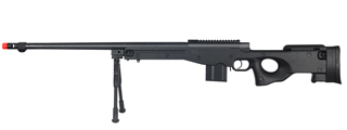 WELL MB4402BBIP BOLT ACTION RIFLE w/FLUTED BARREL & BIPOD (COLOR: BLACK)