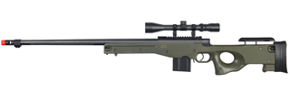 WELL MB4402GA BOLT ACTION RIFLE w/FLUTED BARREL & SCOPE (COLOR: OD GREEN)