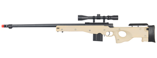 WELL MB4402TA BOLT ACTION RIFLE w/FLUTED BARREL & SCOPE (COLOR: TAN)
