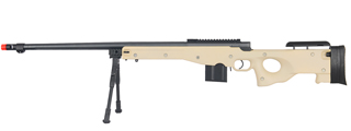 WELL MB4402TBIP BOLT ACTION RIFLE w/FLUTED BARREL & BIPOD (COLOR: TAN)