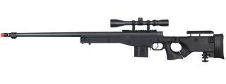 WELL MB4403BA BOLT ACTION RIFLE w/FLUTED BARREL & SCOPE (COLOR: BLACK)