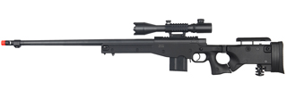 WELL MB4403BA2 BOLT ACTION RIFLE w/FLUTED BARREL & ILLUMININATED SCOPE (COLOR: BLACK)