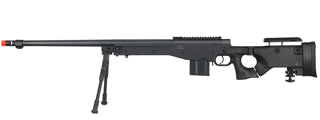 WELL MB4403BBIP BOLT ACTION RIFLE w/FLUTED BARREL & BIPOD (COLOR: BLACK)