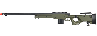 WELL AIRSOFT L96 AWP BOLT ACTION RIFLE W/ FLUTED BARREL - OD GREEN