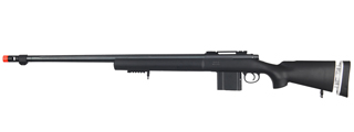 WELL MB4405B BOLT ACTION RIFLE w/FLUTED BARREL (COLOR: BLACK)