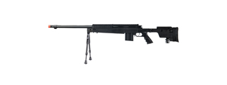Well MB4407B Bolt Action Rifle, w/ Bi-pod, Black