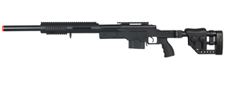 WELL AIRSOFT M24/M28 BOLT ACTION RIFLE W/ FOLDING STOCK - BLACK