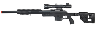 WELL MB4410BA2 BOLT ACTION RIFLE w/ILLUMINATED SCOPE (COLOR: BLACK)