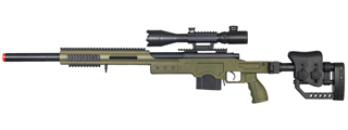 WELL MB4410GA2 BOLT ACTION RIFLE w/ILLUMINATED SCOPE (COLOR: OD GREEN)