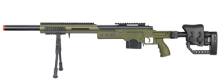 WELL MB4410GBIP BOLT ACTION RIFLE w/BIPOD (COLOR: OD GREEN)