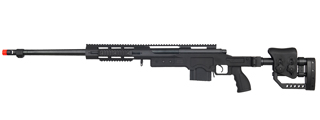 WELL AIRSOFT MB4411 BOLT ACTION SNIPER RIFLE W/ FLUTED BARREL - BLACK