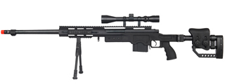 WELL MB4411BAB BOLT ACTION RIFLE w/BIPOD & SCOPE (COLOR: BLACK)