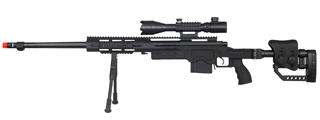 WELL MB4411BAB2 BOLT ACTION RIFLE W/ILLUMINATED SCOPE & BIPOD (COLOR: BLACK)