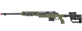 WELL MB4411G BOLT ACTION RIFLE w/FLUTED BARREL (COLOR: OD GREEN)