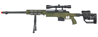 WELL MB4411GAB BOLT ACTION RIFLE w/BIPOD & SCOPE (COLOR: OD GREEN)