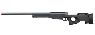 WELL AIRSOFT MB01 GAS POWERED BOLT ACTION RIFLE - BLACK
