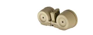 ICS MC-202 Electric Drum Magazine w/ M4 Adapter, Tan