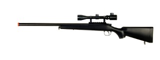 AGM MP001BA BOLT ACTION SNIPER RIFLE w/ SCOPE (COLOR: BLACK)