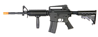AGM MP032 M4A1 RIS AEG Metal Gear, Full Metal Body, Retractable LE Stock, Vertical Foregrip