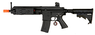 AGM MP052 MK416 AEG METAL GEAR w/LE STOCK, FULL METAL BODY, FREE-FLOAT RIS (BLACK)