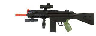 Well MR777 Spring Rifle w/ RIS, Flashlight, Pressure Switch Laser, Scope and Barrel Extension