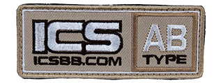 MS-134 ICS PATCH BLOOD TYPE-AB (COLOR: TAN)