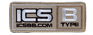 MS-135 ICS PATCH BLOOD TYPE-B (COLOR: TAN)