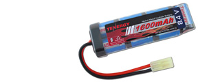 Tenergy NIMH8.4V1600F NiMH 8.4V 1600mAh Mini Flat Rechargeable Battery Pack
