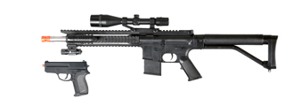 UKARMS P1137 RIS Spring Rifle w/ Scope, Laser & Flashlight and Bonus P618 Spring Pistol in Combo Box