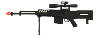 UKARMS P1150 Spring Rifle Sniper w/ Bipod, Mock Scope, Laser, Flashlight and Folding Stock Support
