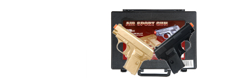 Double Eagle P328GB Dual Spring Pistol Set, Gold/Black