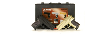 UKARMS P618GB 2 Spring Pistols in Combo Pack ( Black and Gold )