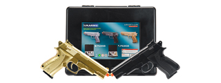 P628GB UKARMS 2 SPRING PISTOLS IN COMBO PACK (BLACK AND GOLD)