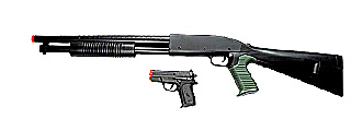 P799B Spring Shotgun Black with Bonus P618 Spring Pistol Combo Box