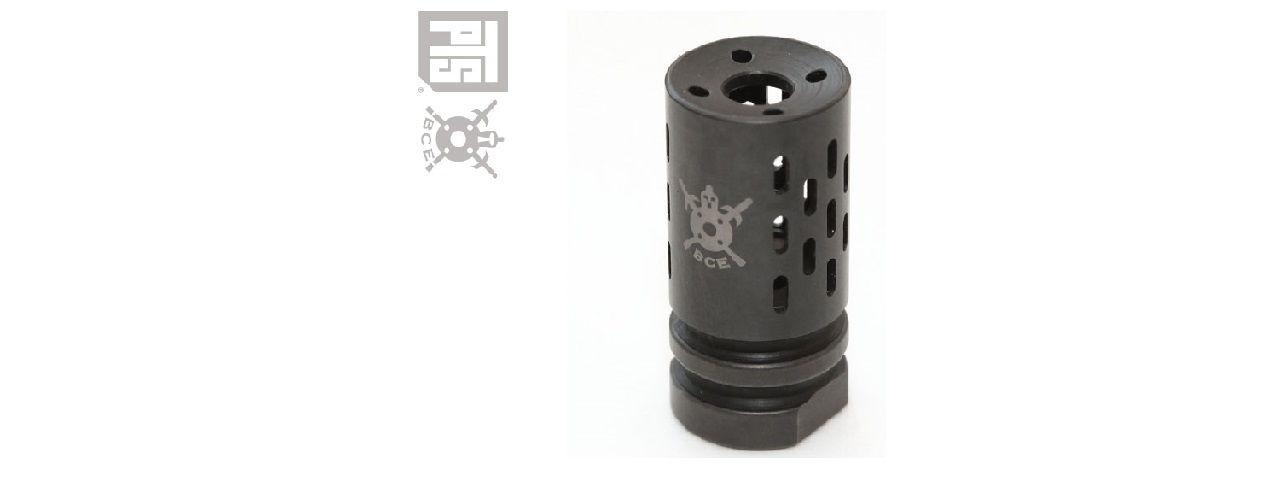 PTS SYNDICATE BATTLE COMP 1.0 14MM CW FLASH HIDER - BLACK