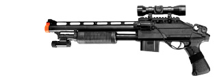 R870B Spring Shotgun w/Laser, Scope, & Flashlight