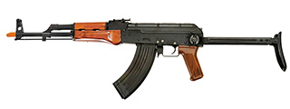 Dboys RK-10WS AK47 Auto Electric Gun Metal Gear, Full Metal Body, Steel Version, Real Wood, Metal Under Folding Stock
