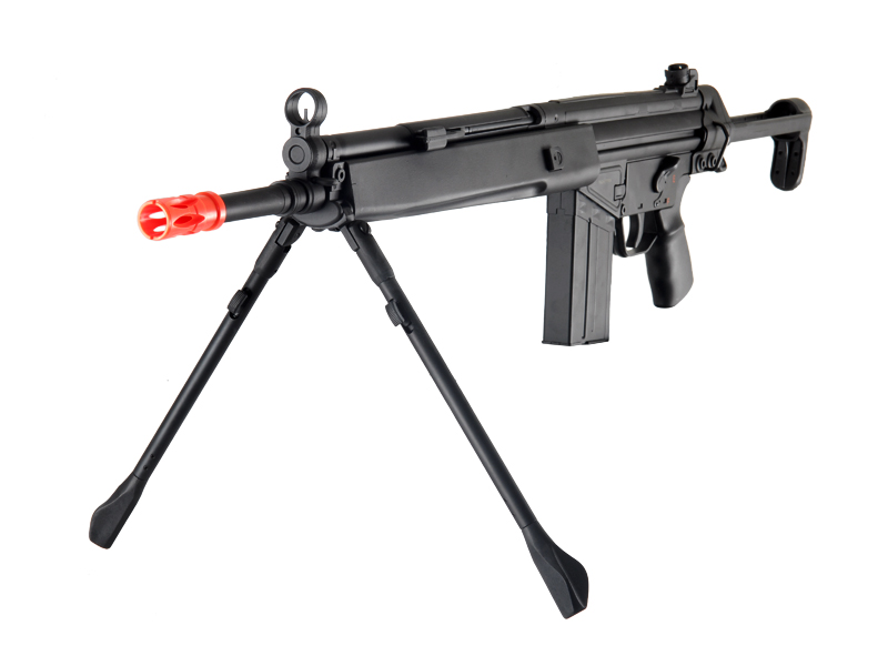 JG T3-A4 AEG Metal Gear, Polymer Body, Integrated Metal Bipod, Adjustable Pull Stock