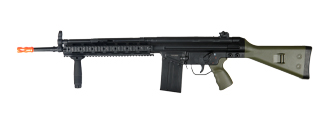 JG T3-RAST T3A3 RIS AEG Metal Gear, Polymer Body w/ Vertical Foregrip in OD Green Color