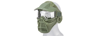 2607G FULL FACE MASK w/ GOGGLE LENS EYE PROTECTION & VISOR (OD)