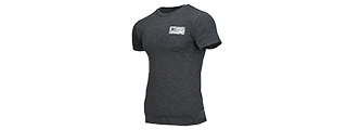511-41191DY-035-L 5.11 TACTICAL BRICK AND MORTAR T-SHIRT - LARGE (CHARCOAL HEATHER)
