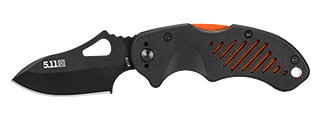 511-51115-511 5.11 TACTICAL DTP AUS8 SKELETON STEEL KNIFE (SCOPE ORANGE)