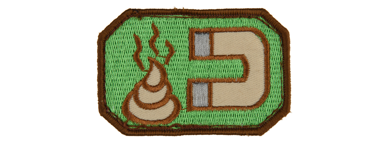 AC-116 MANURE MAGNE ADHESIVE PATCH (FOREST GREEN AND TAN)