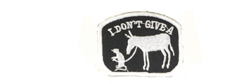 UKARMS AC-119 DON'T GIVE A RATS A** HOOK AND LOOP PATCH (BLACK/WHITE)