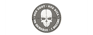 "AC-130D ""ONE SHOT, ONE KILL"" PVC PATCH (GRAY)"