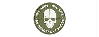 "AC-130E ""ONE SHOT, ONE KILL"" PVC PATCH (OD)"