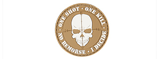 "AC-130F ""ONE SHOT, ONE KILL"" PVC PATCH (TAN)"