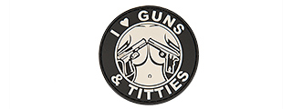 "AC-130G ""I LOVE GUNS & TITTIES"" PVC PATCH (BW)"
