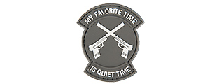 "AC-130M ""MY FAVORITE TIME IS QUIET TIME"" PVC PATCH (GRAY)"